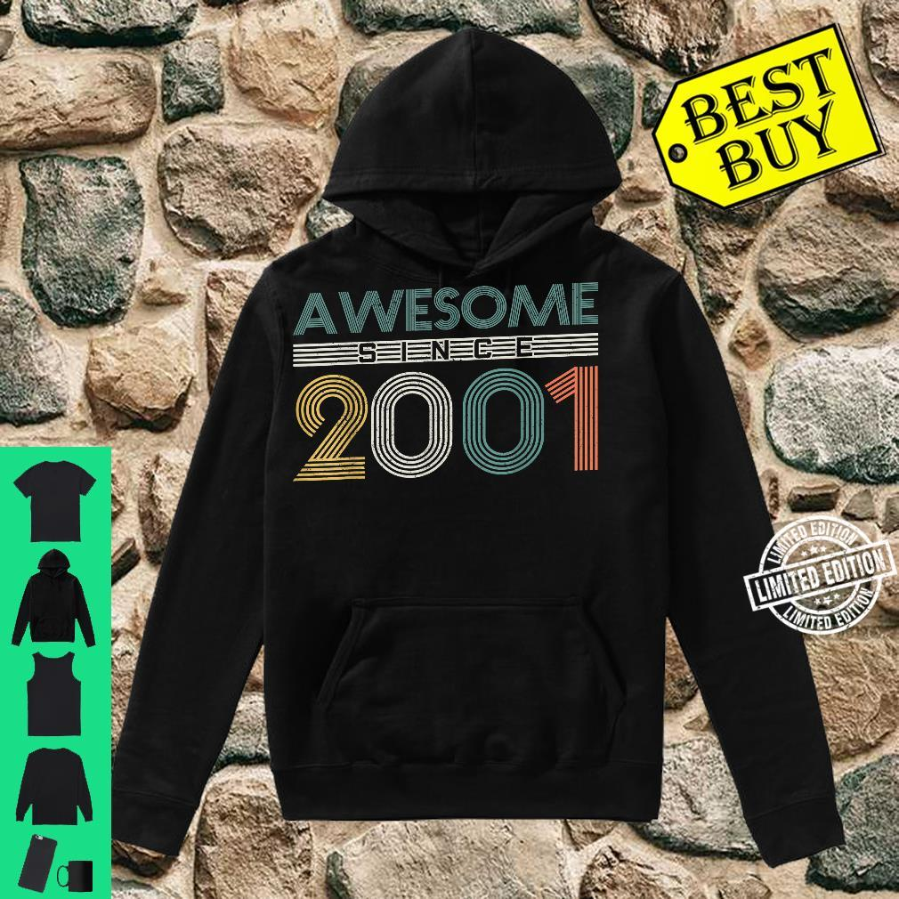 20th Birthday 20 Years Vintage Awesome Since 2001 Shirt hoodie