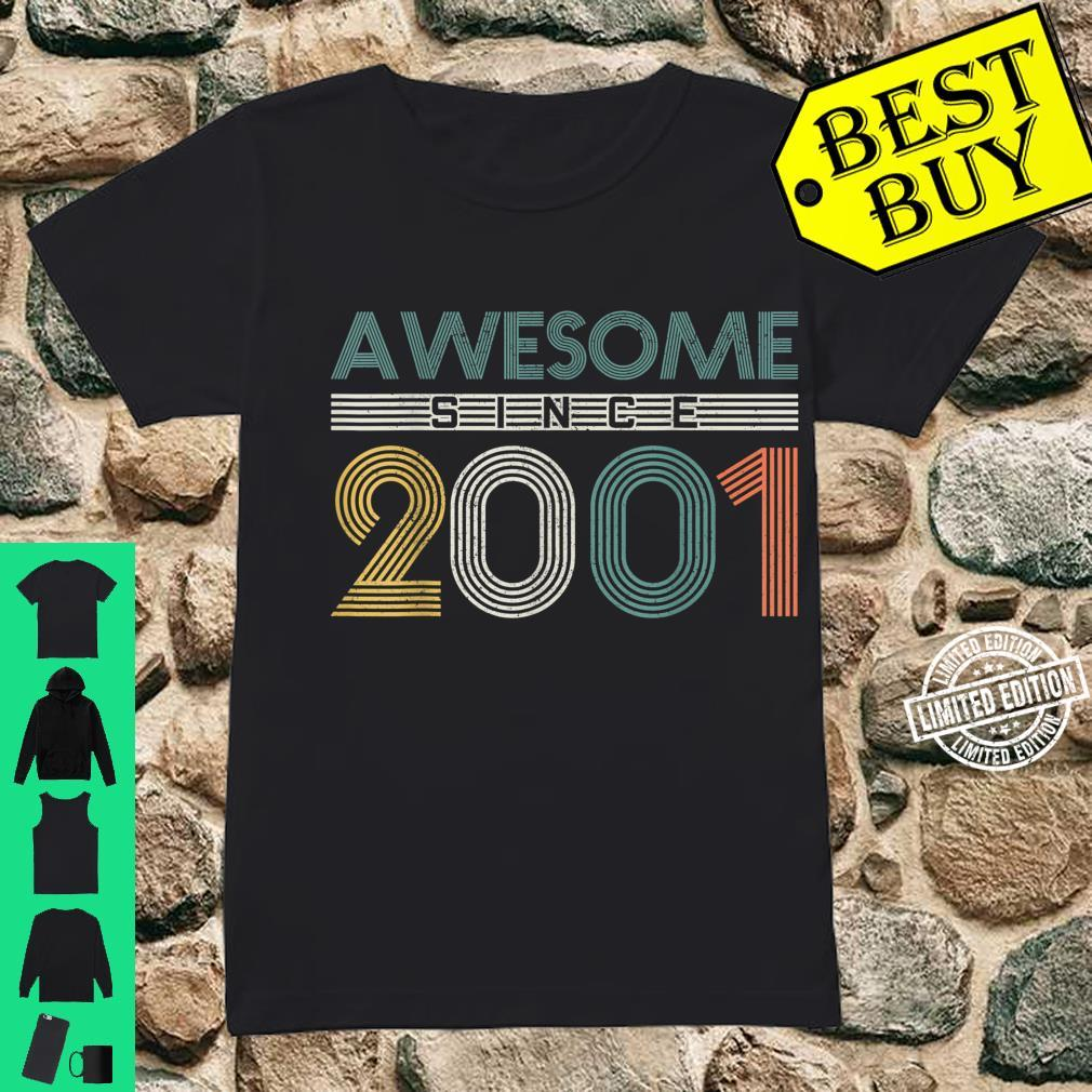 20th Birthday 20 Years Vintage Awesome Since 2001 Shirt ladies tee
