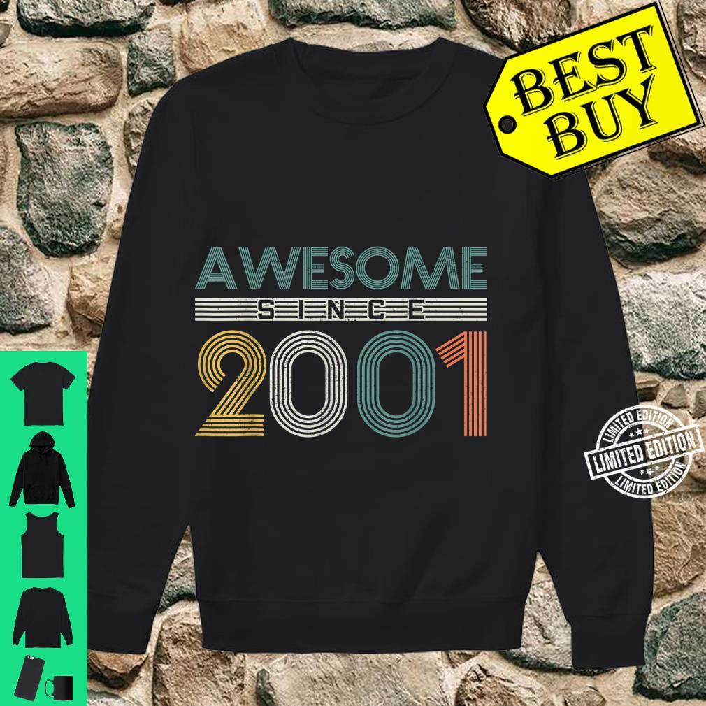 20th Birthday 20 Years Vintage Awesome Since 2001 Shirt sweater