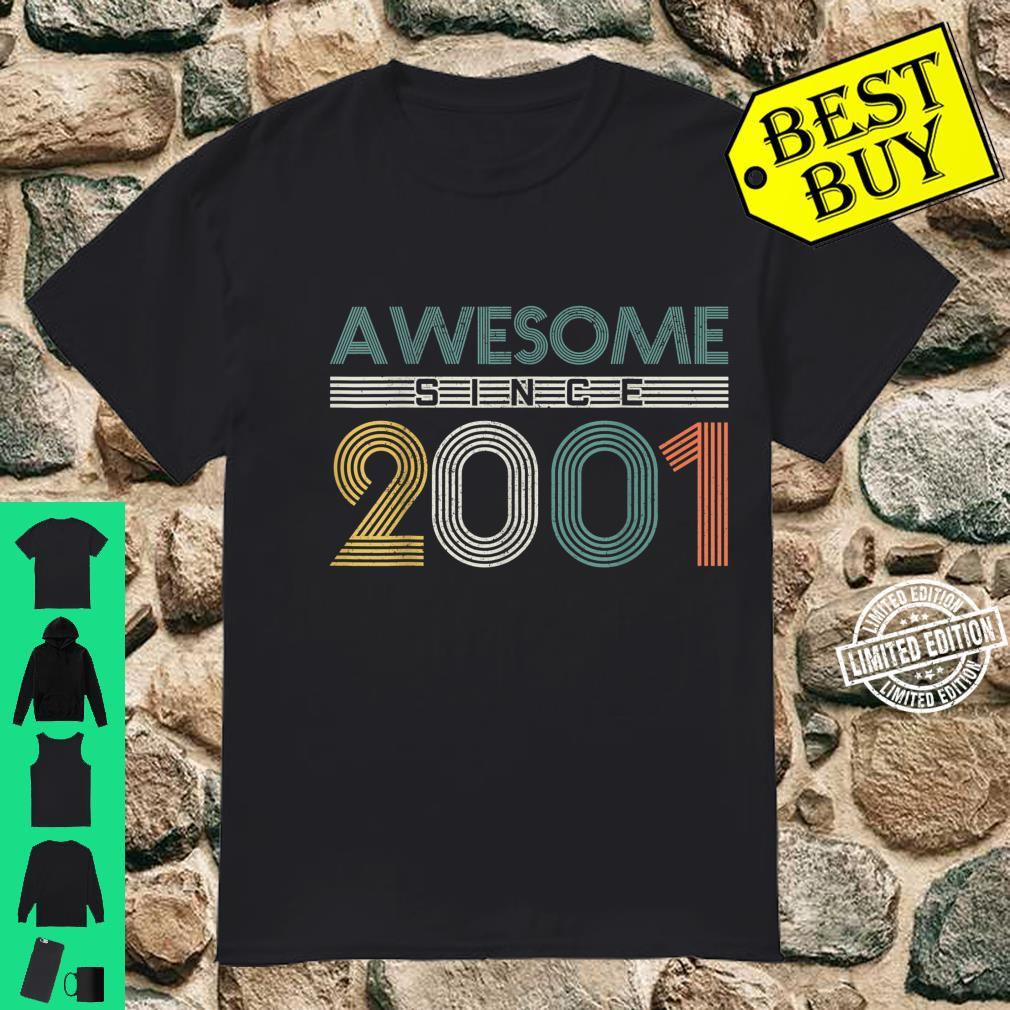 20th Birthday 20 Years Vintage Awesome Since 2001 Shirt