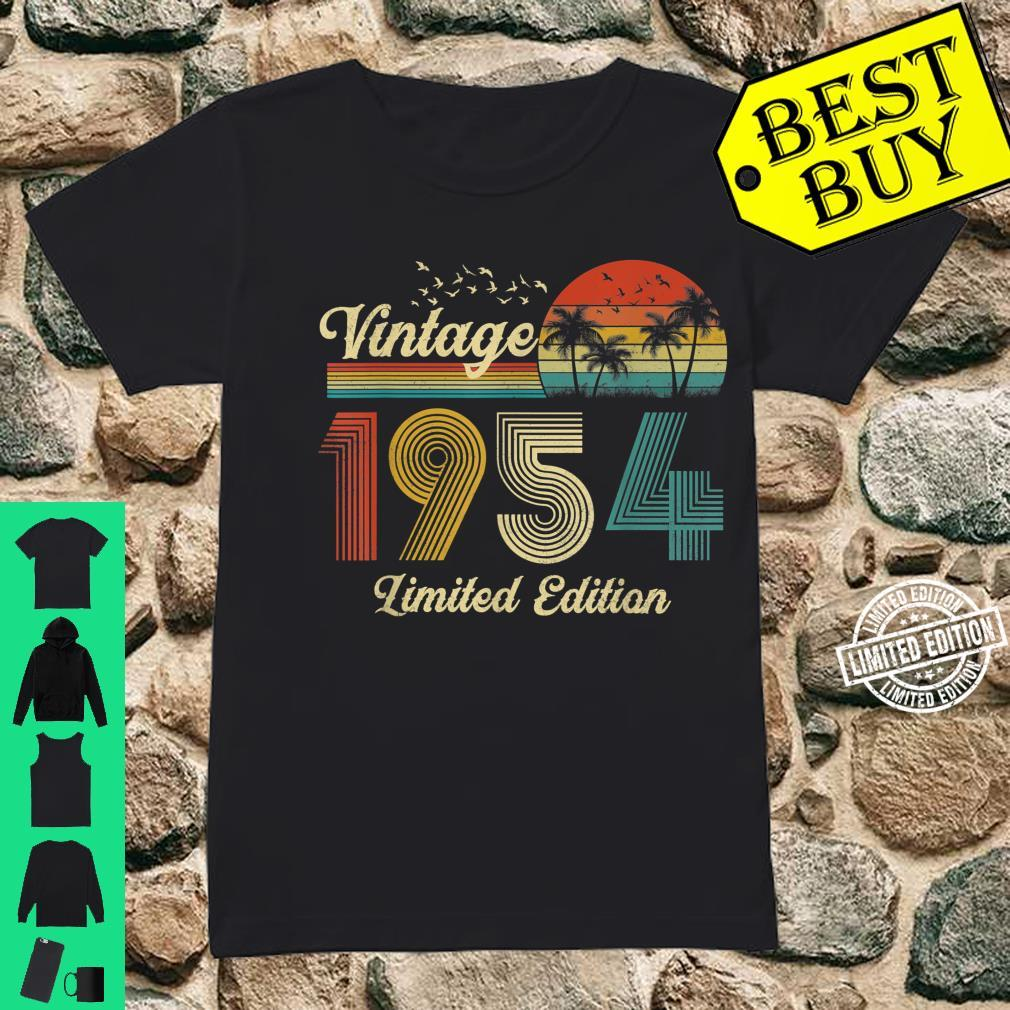 67 Year Old Vintage Classic 1954 Retro Limited Edition Shirt ladies tee