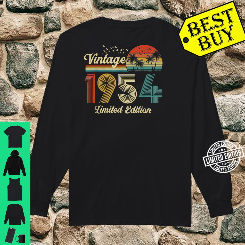 67 Year Old Vintage Classic 1954 Retro Limited Edition Shirt long sleeved