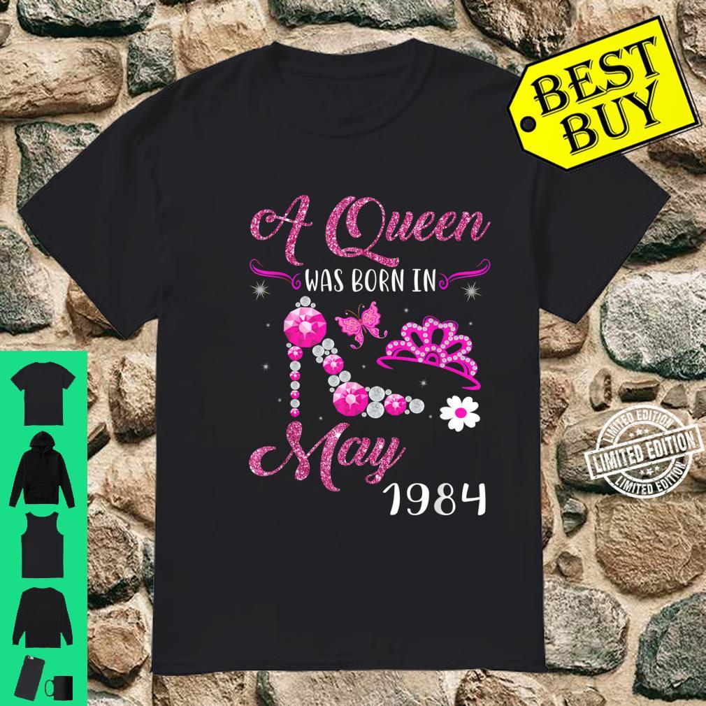 A Queen Was Born in May 1984 37th Birthday Shirt