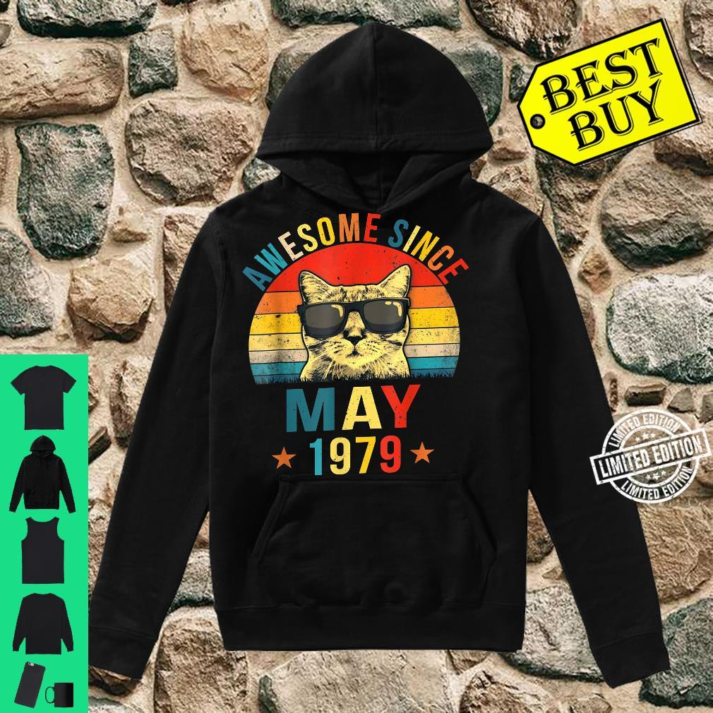 Awesome Since May 1979 42nd Birthday Cat Shirt hoodie