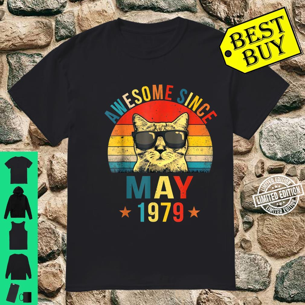 Awesome Since May 1979 42nd Birthday Cat Shirt