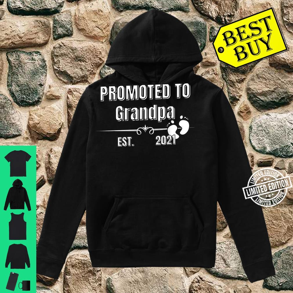 Baby Promoted to Grandpa Est. 2021 Shirt hoodie