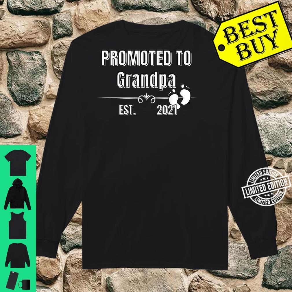 Baby Promoted to Grandpa Est. 2021 Shirt long sleeved