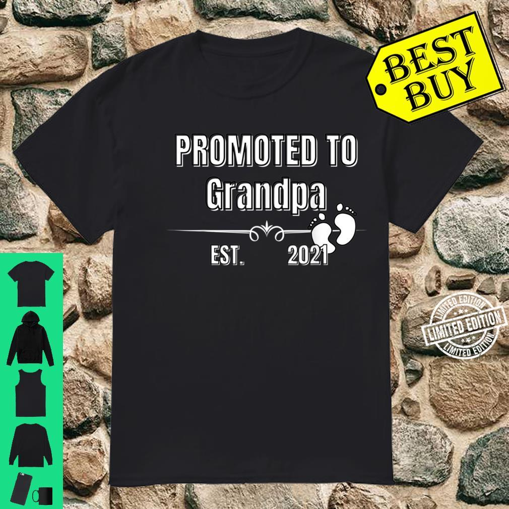 Baby Promoted to Grandpa Est. 2021 Shirt