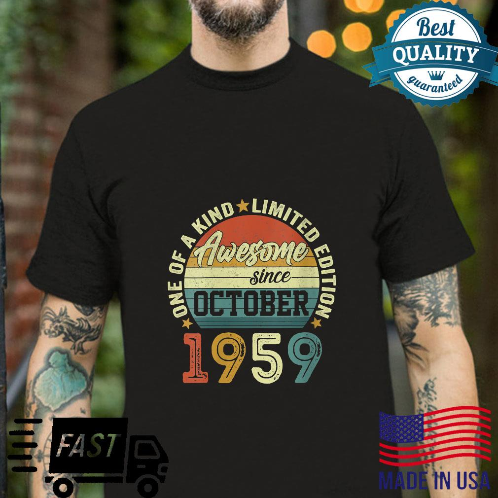 Womens 62 Years Old Awesome Since October 1959 62th Birthday Shirt
